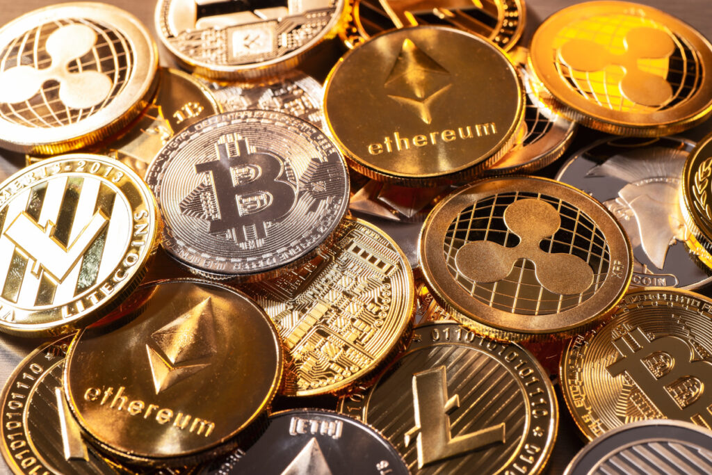 Various cryptocurrency coins